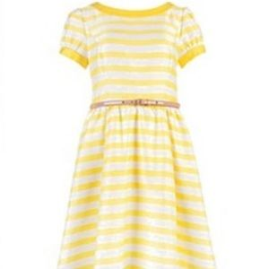 Ted Baker London Honor Yellow Stripe Dress